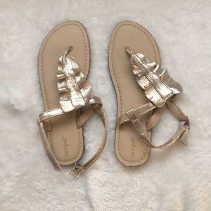 NWOT Girls Gold Sandals
